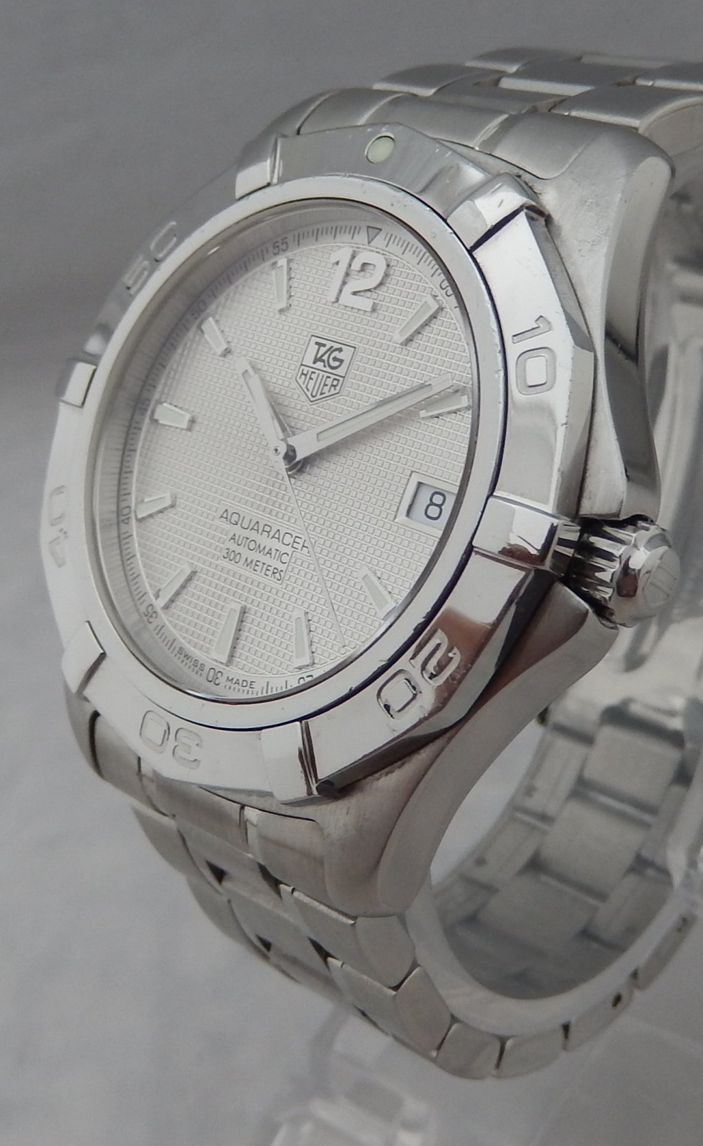 Details About Tag Heuer Aquaracer Automatic 39mm Mens Ss Waf2111 All Original Watch