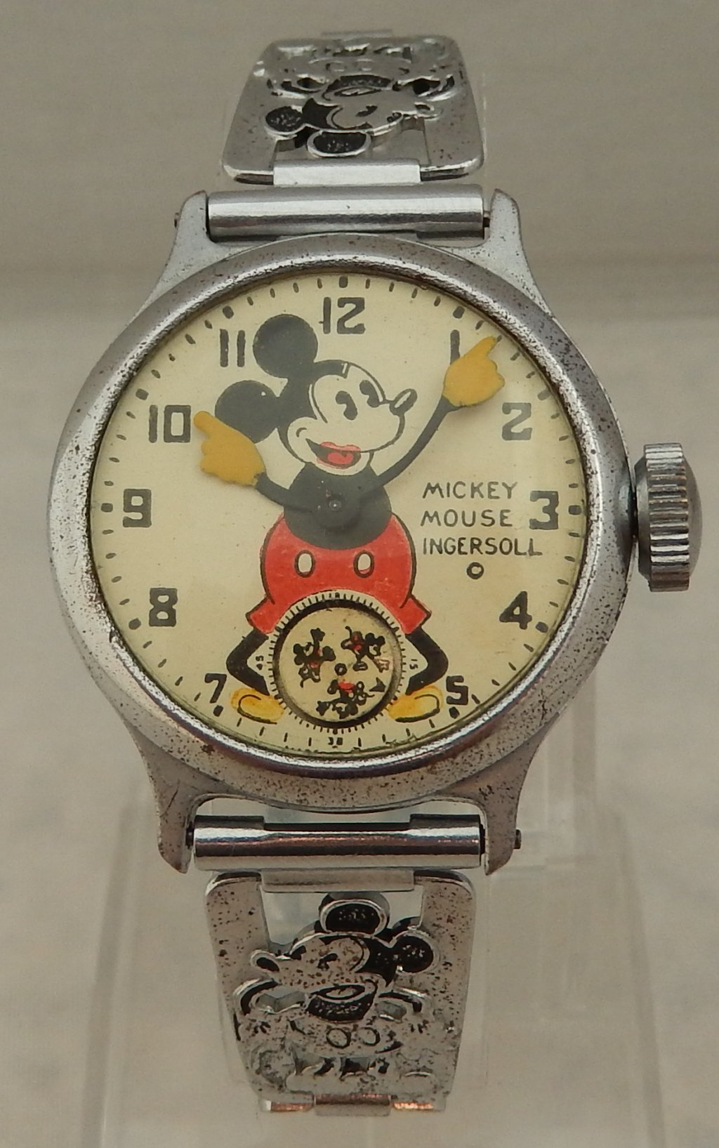 Mickey Mouse Watch Value >> 1930 S Ingersoll Mickey Mouse Watch On Original Bracelet Serviced