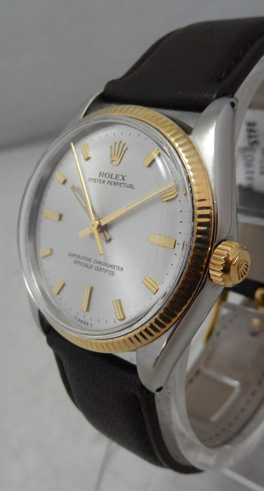 Details about Rolex Oyster Perpetual 18k/ss Gold \u0026 Stainless Steel Mens  Watch Model 1005 1967
