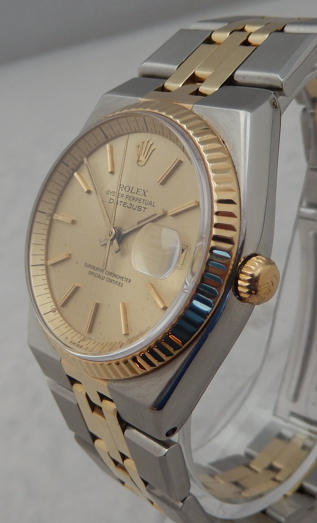 79dd2058fe1 Detalhes sobre Rolex Datejust 14k ss Model 1630 ULTRA RARE COLLECTORS Watch  All Orig 1974