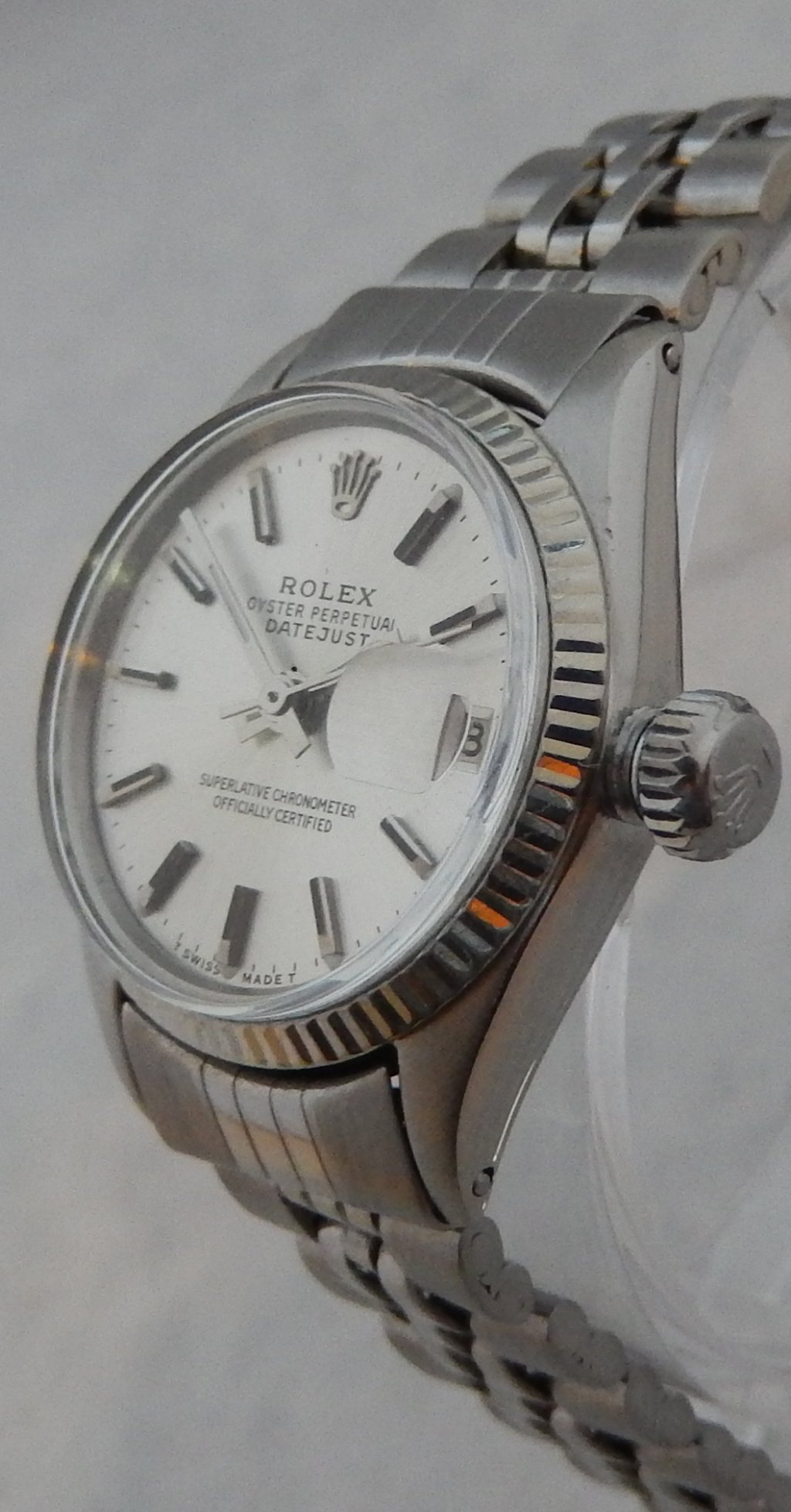 Details about Rolex Oyster Perpetual Datejust SS \u0026 White Gold Ladies Watch  Jubilee Band 1963