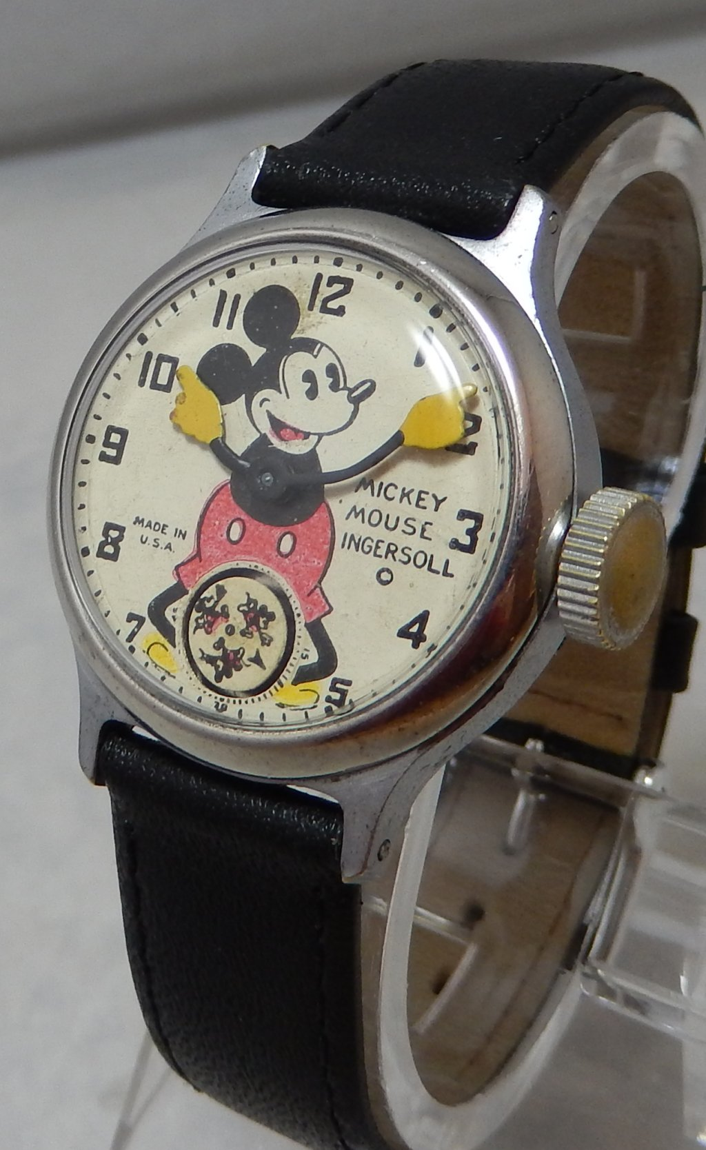 Mickey Mouse Watch Value >> Details About 1930 S Ingersoll Mickey Mouse Watch Serviced And Wearable C 1935 Model