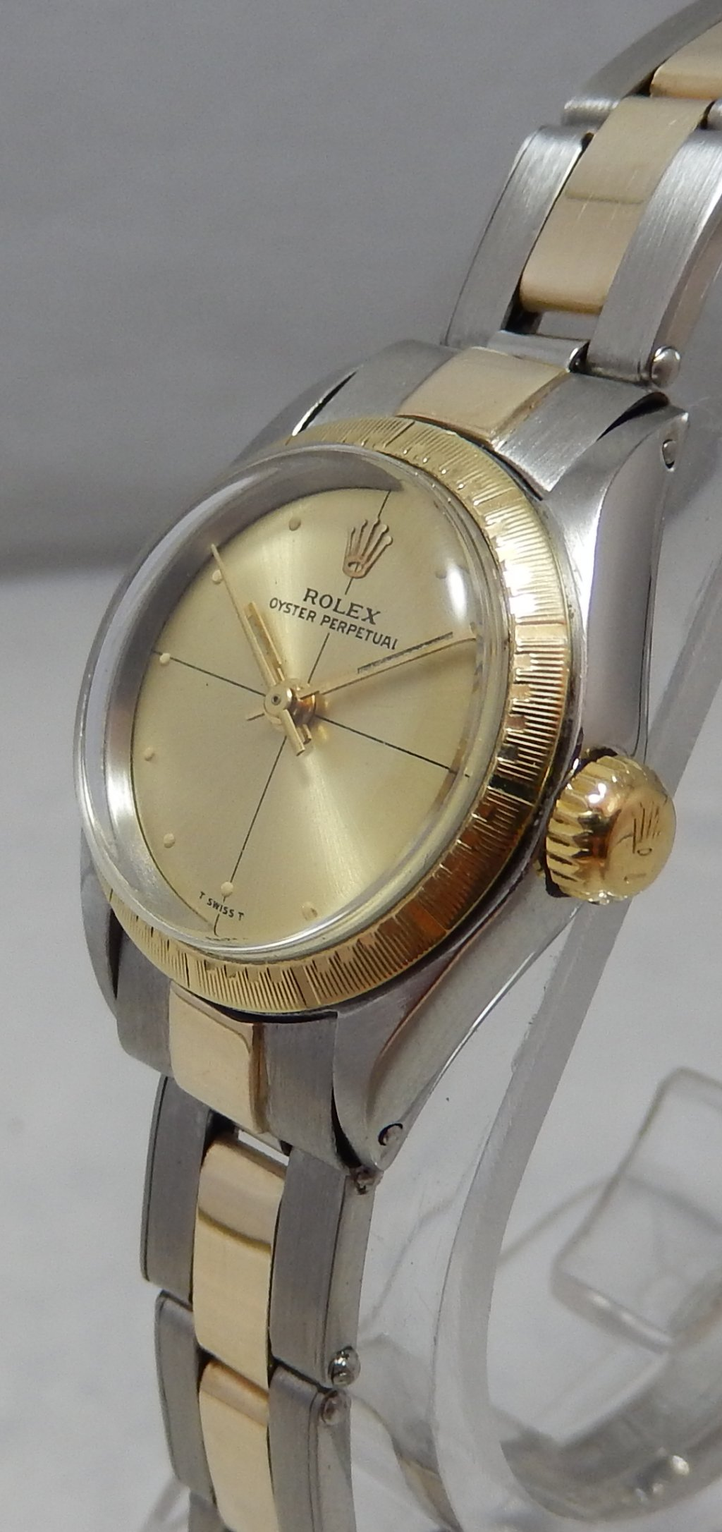 Details about Rolex Oyster Perpetual ZEPHYR Ladies 14k/ss Gold Watch Orig  Band \u0026 Dial 1971