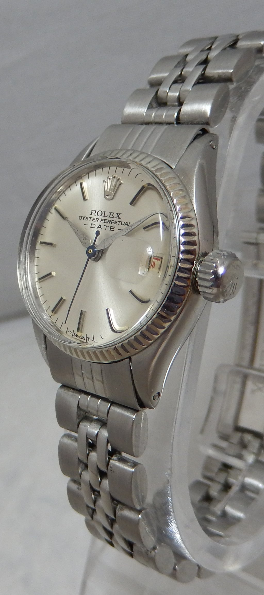 Reloj Señoras Oyster Rolex Permanente De Oro 26 Hora Fecha Ss Blanco PiOXukZT