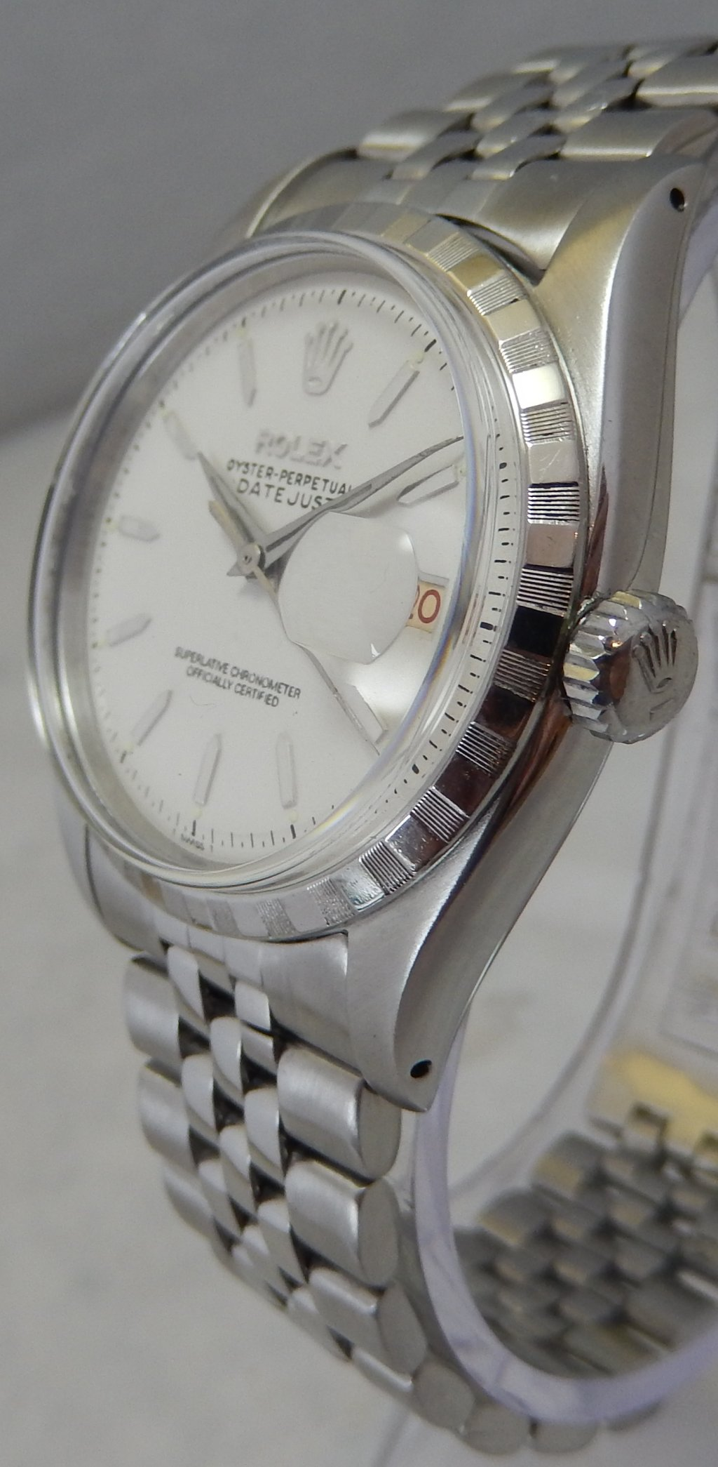 Details About Rolex Oyster Perpetual Datejust 36mm Ss Mens Watch Roulette Date On Jubilee 1957