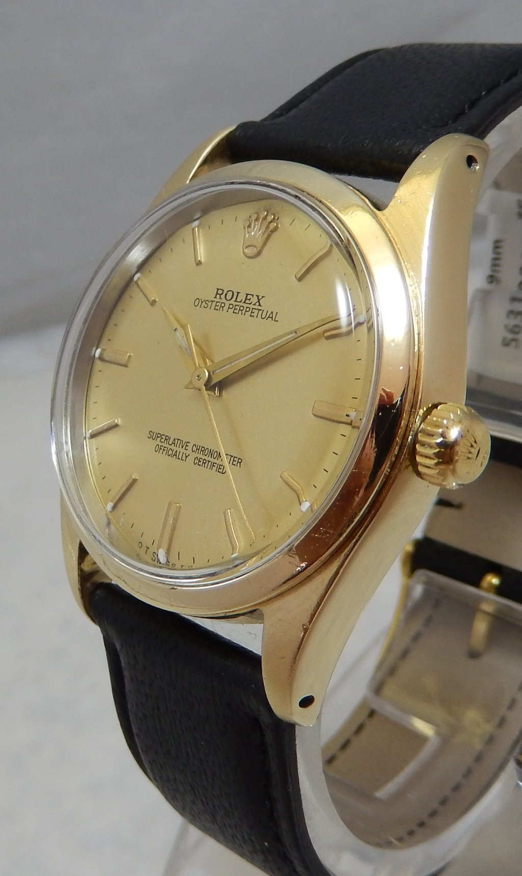 Details about Rolex Oyster Perpetual Gold Capped Model 1014 Mens Watch On  Lamb Strap 1961